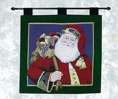 Quilted Christmas Santa Tapestry Wall Hanging