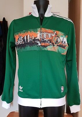 Adidas NBA Boston Celtics limit edition green track top size Medium BNWT
