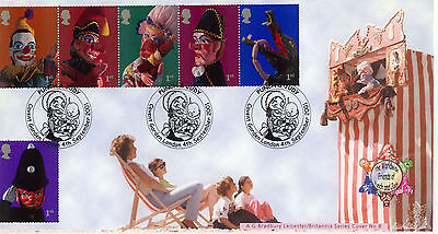 Punch And Judy Bradbury Official FDC