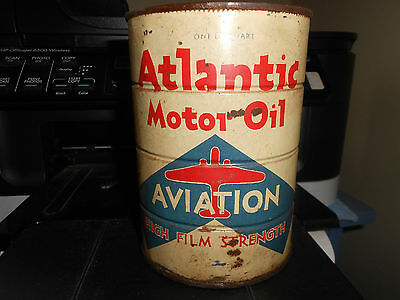 Atlantic Aviation Motor Oil 1 Quart Empty Can