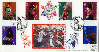 Punch And Judy Bradbury Sovereign Official FDC