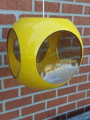 653. Ufo lamp by Luigi Colani about 70- yellow with incurve windows - space age