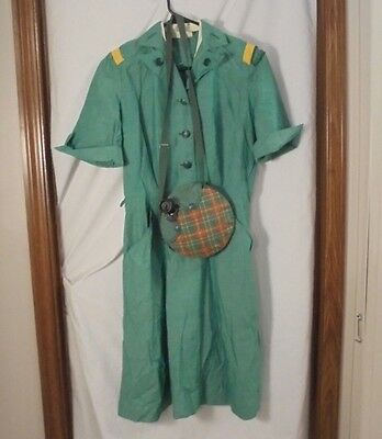 Vintage Girl Scouts Uniform and Official Canteen