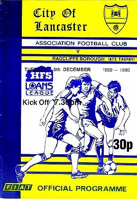 LANCASTER CITY v RADCLIFFE BOROUGH 1989/90 ATS TROPHY