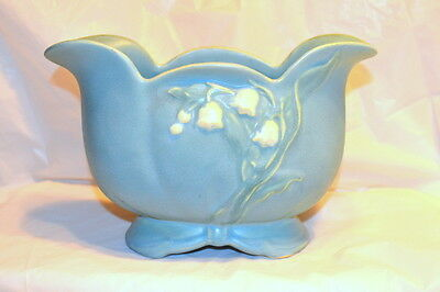 Vintage Weller Pottery Planter/Vase - Bouquet pattern - Lily of the Valley - B-5