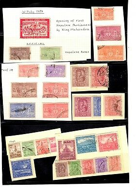 Nepal - 1949 onwards Collection including officials used