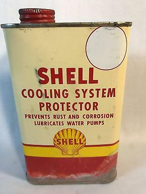 Vintage Shell Gas Cooling System Protector Tin Can Shell Oil Company Advertising
