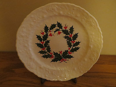 ROSEPOINT Steubenville Pottery Co. 10 indh Holiday Dinner Plate 1966