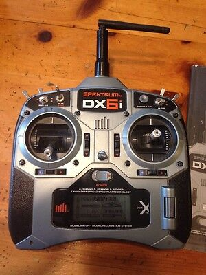 Spektrum DX6i Transmitter 2.4GHz 6 Channel 10 Model Planes Drones Helicopters