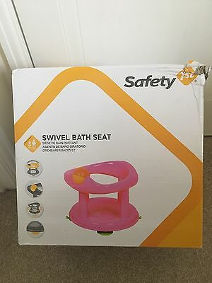 New Safety 1st Swivel Bath Seat for Baby Baby Bathing Support Seat - Pink