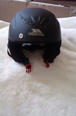 Trespass Sky High Snow Sport Helmet - Black, Medium 54*58cm