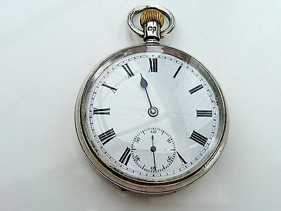 Nice very early 1900s English solid silver pocket watch...VGWO