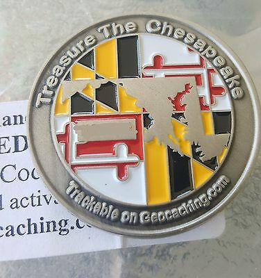 Unactivated Rare 2005 Maryland Geocoin (code included) Trackable
