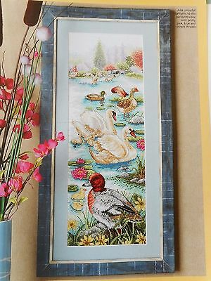 Parkland Lake With Beautiful Wetland Birds Cross Stitch Chart