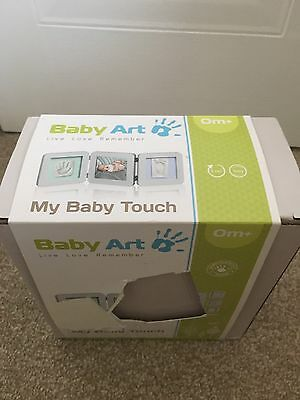 Baby Art My Baby Touch Two Print Frame In Grey
