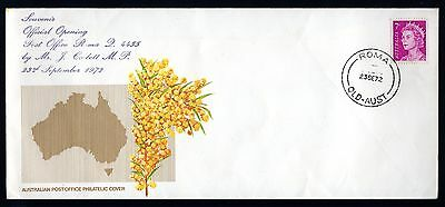 1972 Australia Post Souvenir Cover Opening of Roma Post Office, QLD - Very Rare