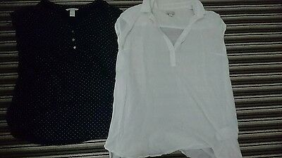 2 x Gap H&M maternity short sleeve tops shirt size M