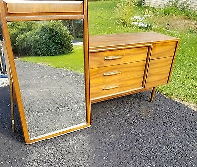 Mid Century Dresser Solid Walnut with Mirror