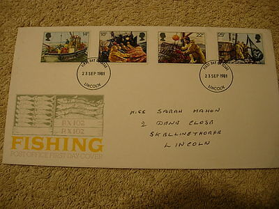 Royal Mail 1st Day Cover - Fishing   , with information card