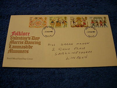 Royal Mail 1st Day Cover  ,Folklore  with information card