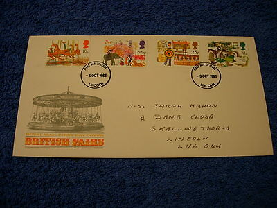 Royal Mail 1st Day Cover - British Fairs , with information card