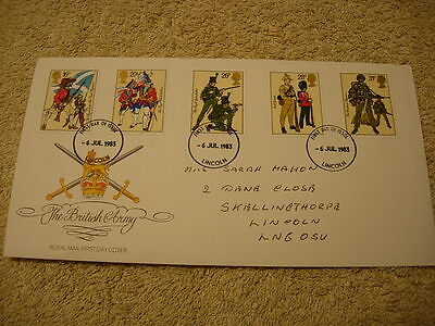 Royal Mail 1st Day Cover - British Army , with information card