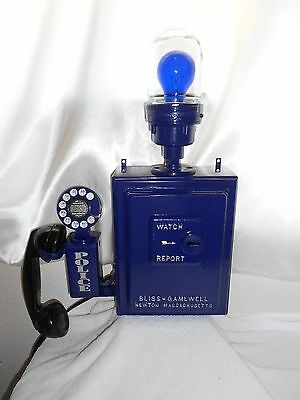 Gamewell POLICE Call Box Telephone Antique Phone Fire Sheriff Emergency Alarm