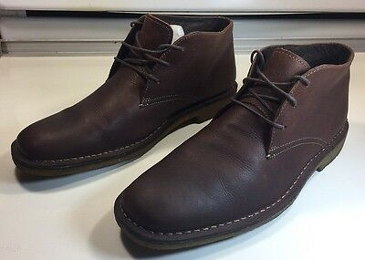 Johnston & Murphy Ankle Boots Chukka Distressed Brown Leather Men Sz 11 M