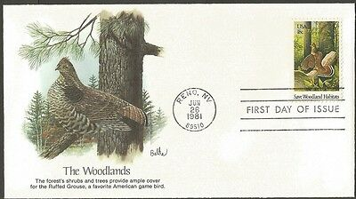 Us Fdc 1981 Save Woodland Habitats 18C Stamp Fleetwood First Day Of Issue Cover
