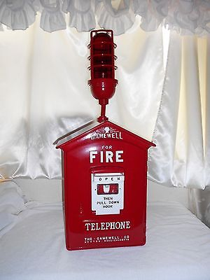 Gamewell 1950's Fire Alarm Call Box Telephone Antique Phone Police Restored Old