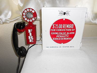 Gamewell Fire Alarm Call Box Antique Telephone Phone Fireman Police Restored