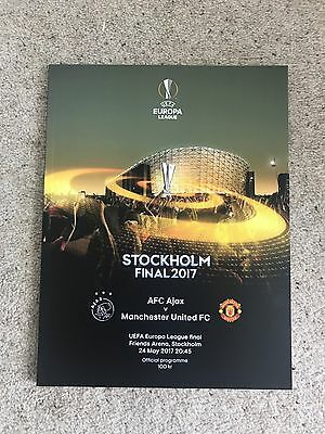 Europa League Stockholm Final 2017 Program Manchester United v Ajax