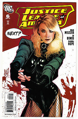 Justice League Of America #6 Nm- 1:10 Adam Hughes Black Canary Variant Dc 2007