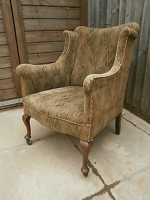 Antique late georgian early victorian wing back bedroom chair