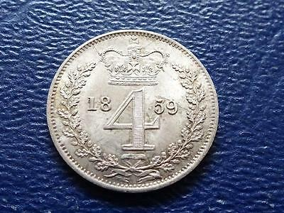 Queen Victoria Silver Maundy Fourpence 1859 4D Groat Great Britain Uk
