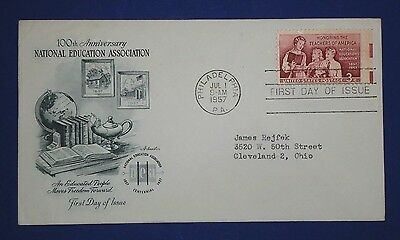 1957 National Education Association 3 Cent First Day Cover 1093 Artmaster Cache