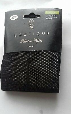 Boots Boutique black seamed nylon tights Size Medium/Large