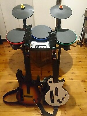 Wii Drum Kit and Guitars