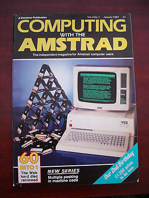 Job lot of Computing with the Amstrad magazines 1987/Revistas Amstrad CPC