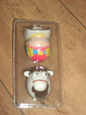 Rare Sealed Unused Milky Bar Kid And Horse Weebles