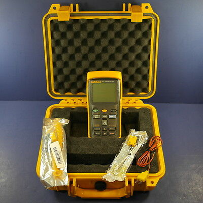 Fluke 54 II Thermocouple Thermometer, Excellent, Hard Case