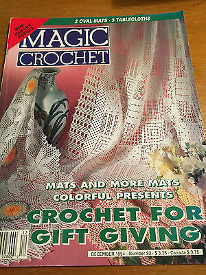 MAGIC CROCHET #93 PATTERN MAGAZINE  1994 Doilies Filet