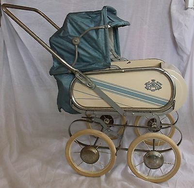 Vintage Collier Brand Metal Framed Baby Doll Pram Stroller Carriage Buggy