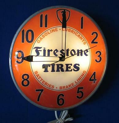 Vintage Pam  FIRESTONE TIRES  Advertizing Clock