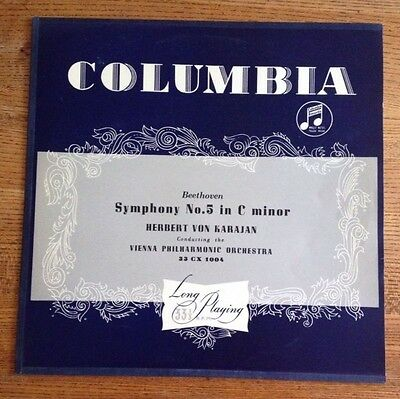 Columbia Beethoven Symphony No. 5 In C Minor Original Vinyl LP Near Mint