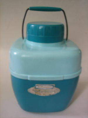 Vtg Mid-Century Turquoise Lustro Ware U.s.a. Triple Insulated Gallon Thermos