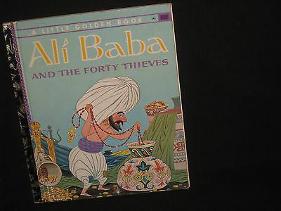 1960s VINTAGE Little Golden Book ALI BABA AND THE FORTY THIEVES 1967