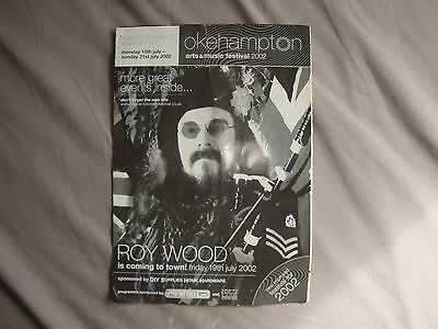 Roy Wood advert for the Okehampton arts and music festival