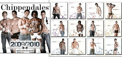 Chippendales Calendar 2010 - New Mini Version Male Strippers