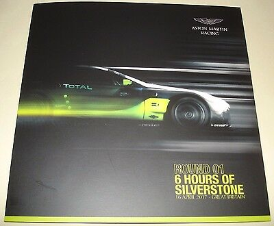 Le Mans FIA WEC 2017 Silverstone LMGTE PRO Aston Martin Racing #97 Signed Card